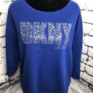 DKNY Jeans 3/4 sleeve sweatshirt Large